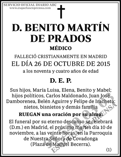Benito Martín de Prados
